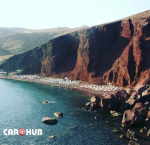 rent a car santorini - santorini rental car - santorini red beach
